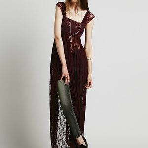 Free People Romance in the Air Maxi Slip Dress